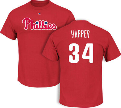 Bryce Harper Philadelphia Phillies Red T-Shirt by Majestic