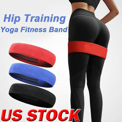 Resistance Bands Cotton Elastic Workout Gym Fitness Band Loop For Yoga Pilates