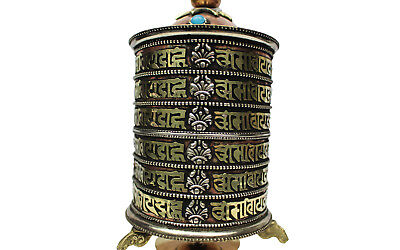 Beautiful Table Prayer Wheel Hand Crafted in Nepal Peace, Meditation, Buddhism