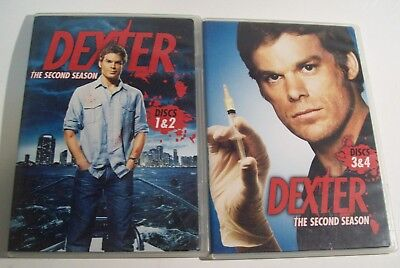 DEXTER Season 2 Two - 4 DVDs 12 episodes ~ Murder Secret Killer ~ Michael C Hall