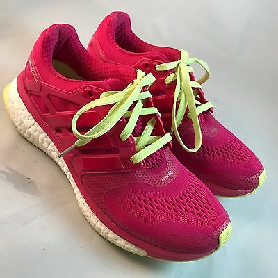 reputable site 21853 95fc0 Adidas ENERGY BOOST 2 Womens SZ 7 38 23 Ruby Red Chiffon Yellow 160