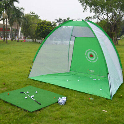 Golf Practice Set Training Frame Hitting Net Golf Cage for Outdoor Home Use
