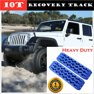 Car Recovery Tracks Sand Mud Snow Grass Track Trax 10T Offroad 4WD 4x4 Blue AU