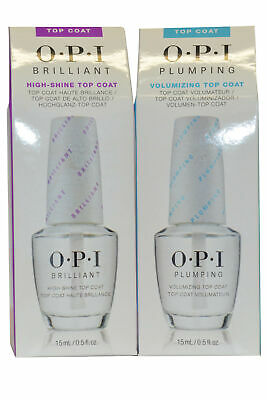 OPI O P I / O.P.I Nail Top Coat Duo Offer 15ml Brilliant and Plumping