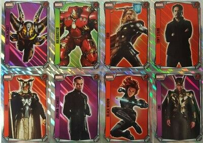 MARVEL MISSIONS  HERO ATTAX  2017 Trading Card HOLOFOIL Set of 16 topps