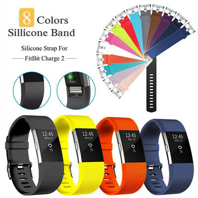 Silicone Replacement Watch Spare Band Strap Sports Bracelet For FitBit Charge 2