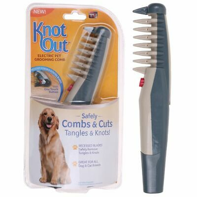 Electric Dog Cat Grooming Comb Groomer Pet Hair Scissor Trimmer Tangles Tools IT