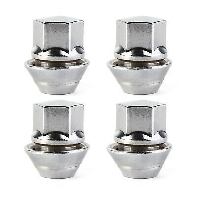 Pack of 4 Wheel Bolts Nuts Lugs M12 x 1.5 19mm Hex 24mm thread
