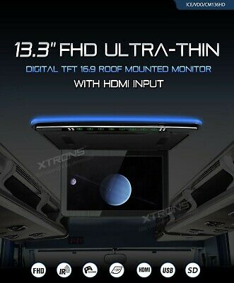 """XTRONS CM136HD 13.3""""MONITOR DA TETTO  TFT 16:9 roof mounted monitor with hdmi"""