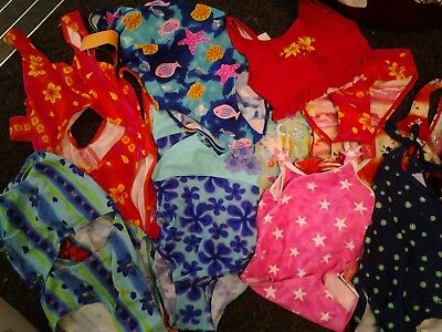 Sale Job Lot Of 19 Girls Assorted Swimming Costumes/2 Piece - Ideal For Resale