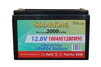 12V 100ah Lithium Iron LiFePo4 Battery Free Freight & Freight Insurance Included