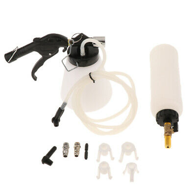 1L AIR Pneumatic Brake Bleeder Fluid w/ 4Master Cylinder Adapters 90-120 PSI