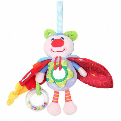 Baby Rattles Music Doll Infant Bed Stroller Hand Bell Plush Newborn Toy BS