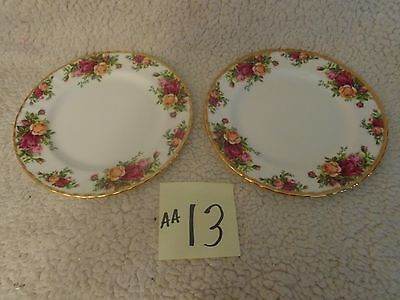 2 Royal Albert Old Country Roses Bone China Salad Plate with Gold Trim,england,
