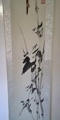 large Chinese scroll signed