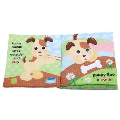 Colorful Newborn Baby Kids Cloth Books Cartoon Animal Kids Educational Toys BS