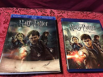 Harry Potter and The Deathly Hallows : Part 2 (2011 3-Disc Blu-Ray/DVD) SHIP NOW