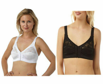 Ladies Bra Marlon Front Fastening Comfortable Soft Cup Non Wired Bra Size 34-48