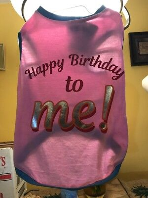 Top Paw Happy Birthday To Me Pink Shirt