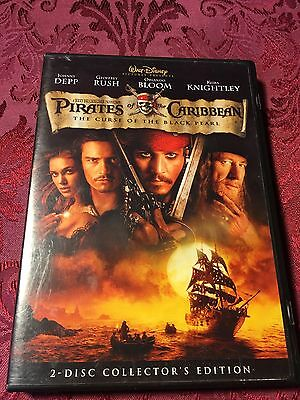 Pirates Of The Caribbean : The Curse Of The Black Pearl (2003 2-Disc DVD)