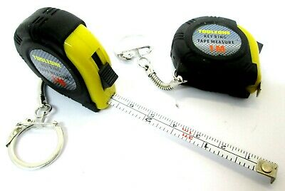 1M Tape Measure Key Ring x 2 ( Set Of Two)  Measuring Tapes MM & Imperial MS139