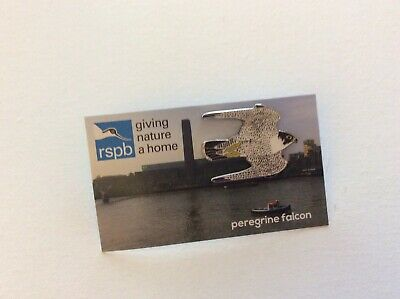 RSPB Pin Badge | Peregrine Falcon | Tate 2019 -special Picture Card.