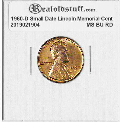 1960 D Lincoln Memorial Cent Gem BU Small Date