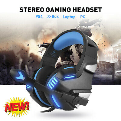 Gaming Headset Mic Stereo Bass Surround Headphone LED for PS4 Laptop PC X-BOX US