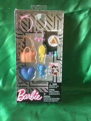 NEW! 2018 BARBIE DOLL FASHION ACCESSORY PACK ~ 12 Pieces New! ^_^ New!! (HW)
