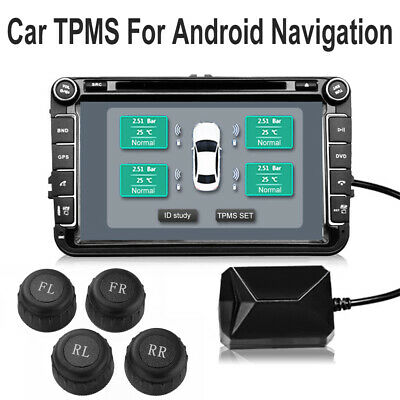 USB Car TPMS Tire Pressure Monitoring System External Sensors for Android MA1906