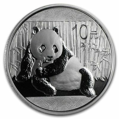 2015 China Chinese Panda 1 OZ .999 Silver 10 Yuan Coin