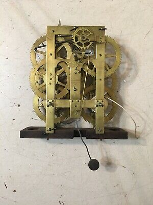 Antique Chauncey Jerome 8 Day Ogee Clock Movement Weight Driven