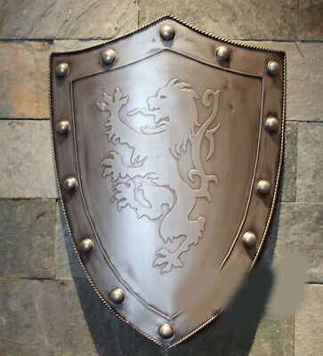 D3 Europe Battle Medieval Shield Antique Knight Armour Wall Home Decor Full Size