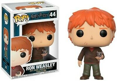 Harry Potter S4 - Ron Weasley with Scabbers - Funko Pop! Movie (2017, Toy NUEVO)