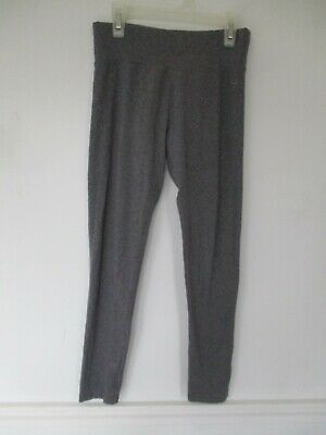 Justice Girl's Size 14 Cotton Blend Solid Gray Leggings Pants