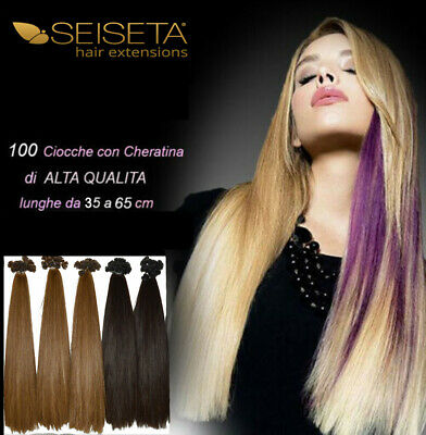 EURO SO.CAP HAIR EXTENSION 100 CIOCCHE CHERATINA lunghe 45 a 55 cm REMY
