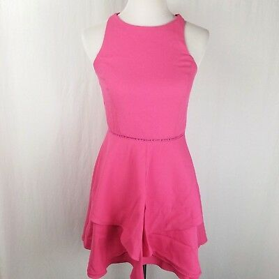 6687cb32c54 ADELYN RAE PINK Dress Cross Back Fit And Flare Womens Size Small NWT ...