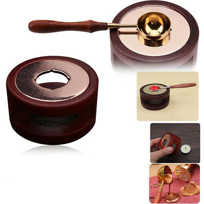 Melting Stove Wax Seal Wood Spoon Melting Stamp Furnace Accessories Tools UK Stk