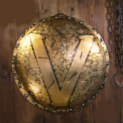 D18 Europe Retro Medieval Shield Antique Knight Armour Wall Home Decor Full Size