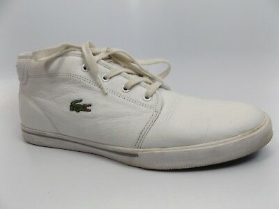 cb0b332e6fc454 LACOSTE MEN S AMPTHILL Lcr3 Shoe White Lace Up High Top Ankle Chukka ...