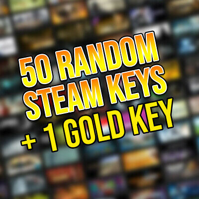 50 Random Steam Keys + 1 Gold Key | Fast Delivery! | Region Free