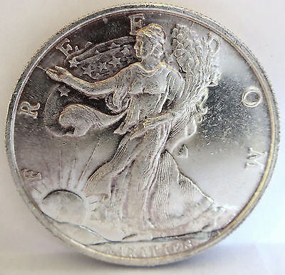 Rarities Liberty Anaheim Freedom Eagle .999 Fine Silver Home Of Brave 1 Troy Oz