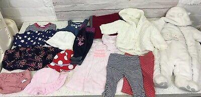 Baby Girls 0-3 Months Clothing Bundle 15 Items Mothercare M&Co M&S Etc