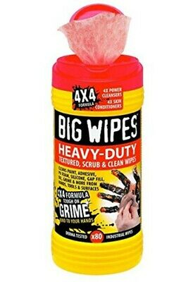 Big Wipes Heavy Duty Dual Side Textured Scrubbing Cleaning 80pc RED Top 60020046
