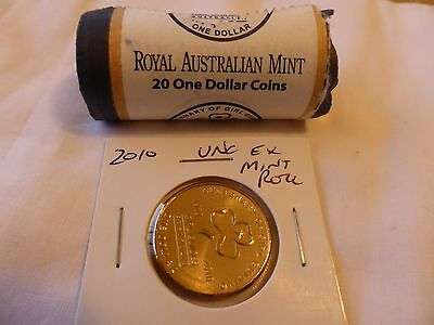 2010 $1 australian coins - Unc ex Mint Roll Girl Guides 1 coin