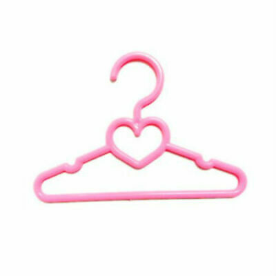 12 5.5 Pink Heart Hangers Fits 14 Inch American Girl Wellie Wisher Doll Clothes