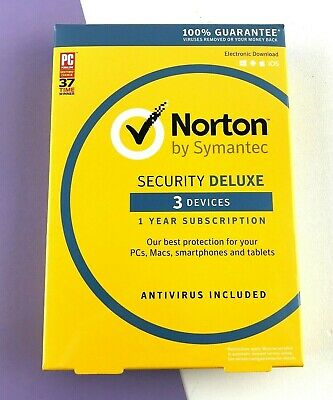 Norton By Symantec Security Deluxe Antivirus for 3 Devices #0691