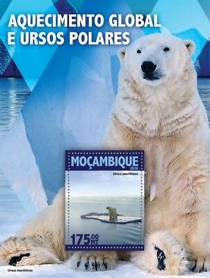 Mozambique 2016 Sheet Mnh Global Warming Rechauffement Climatique Polar Bears 2A