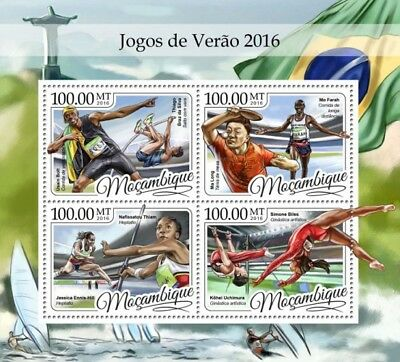 Mozambique 2016 Sheet Mnh Summer Olympic Games Jeux Olympiques 5