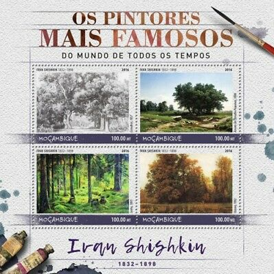 Mozambique 2016 Sheet Mnh Ivan Shishkin Art Paintings Arte Pinturas Peintures 7